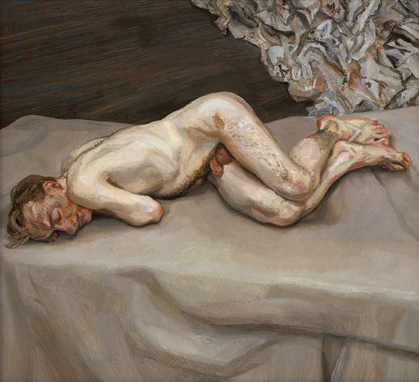 Naked Man on a Bed, 1987 (oil on canvas)