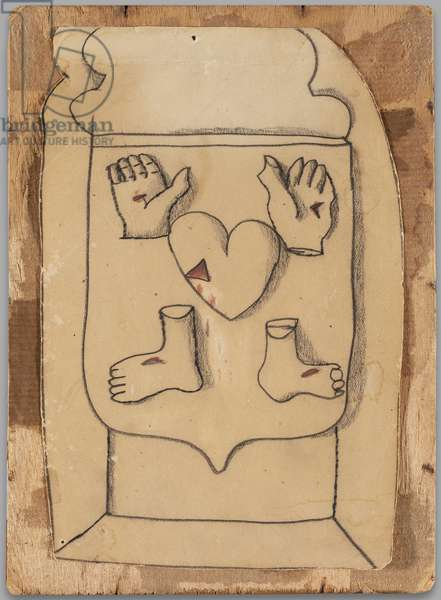 Crucifixion (for Lorna Wishart), c.1947 (ink on paper)