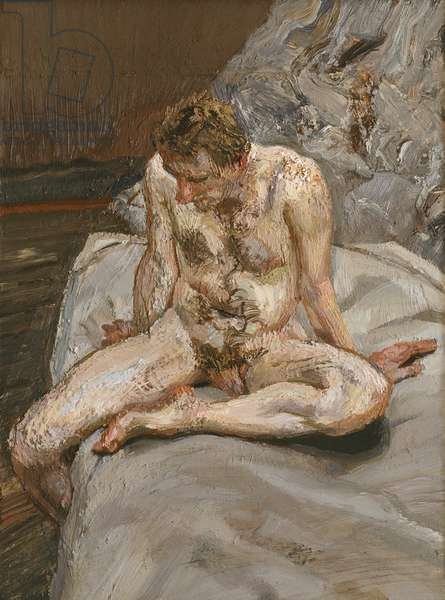 Naked Man on a Bed, 1989 (oil on canvas)