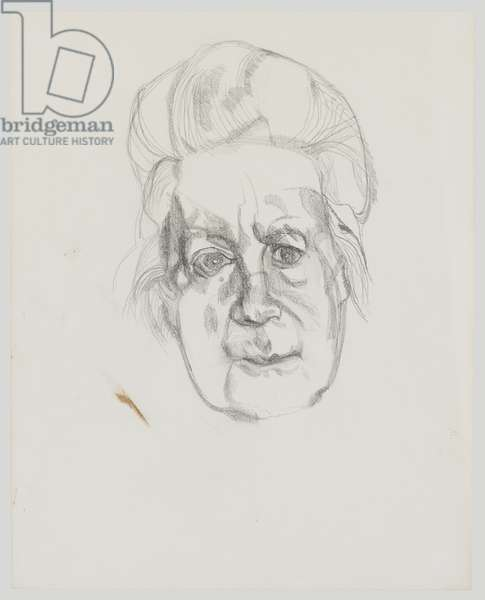 The Artist's Mother, 1968 (pencil on paper)