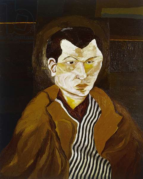 Man in a Striped Shirt, 1942 (oil on canvas)
