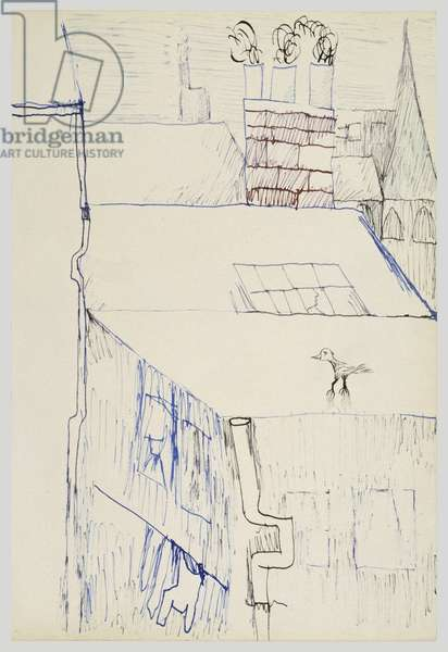 Bird on a Roof, 1940 (ink on paper)