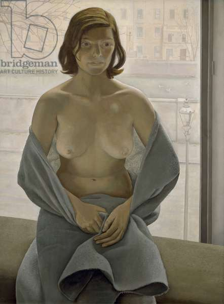 Girl in a Blanket, 1953 (oil on canvas)