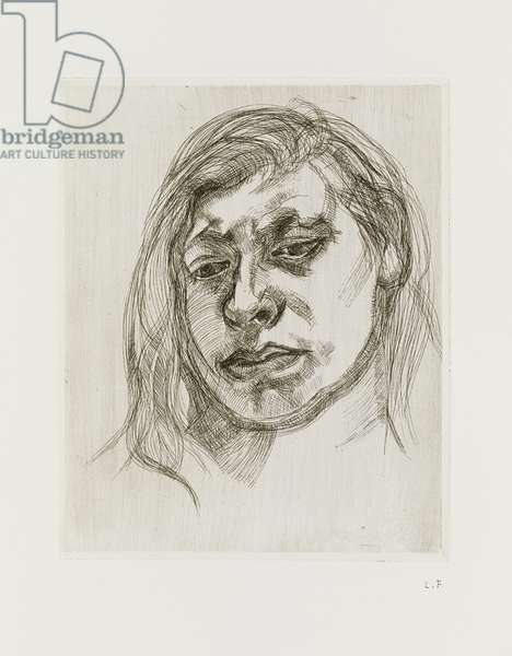 Head of a Girl II, 1982 (etching)