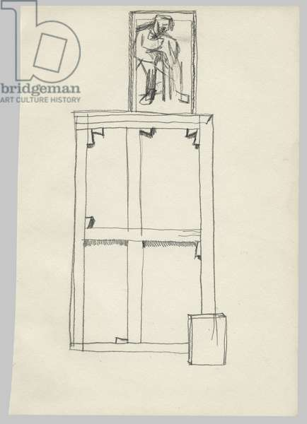 In The Studio, c.1970 (pencil on paper)