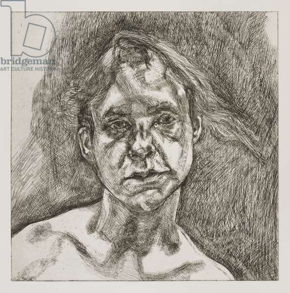 Head of Naked Girl, 2000 (drypoint)