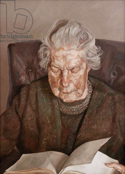 The Painter's Mother Reading, 1975 (oil on canvas)