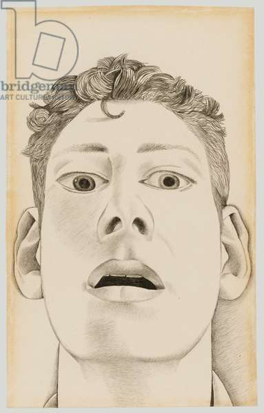 Startled Man: Self Portrait, 1948 (pencil on paper)