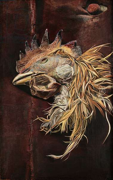Dead Cock's Head, 1951 (oil on canvas)