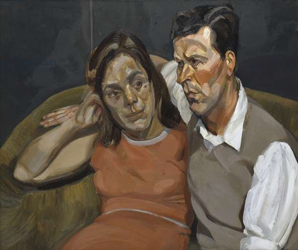 Michael Andrews and June, 1965-66 (oil on canvas)