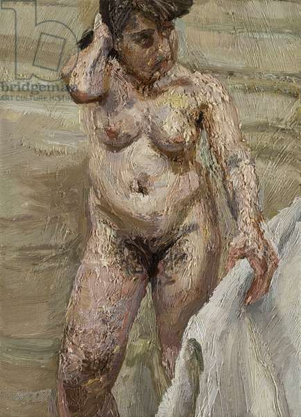 Woman Holding Bedrail, 1997 (oil on canvas)