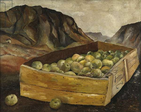 Box of Apples in Wales, 1939 (oil on canvas)