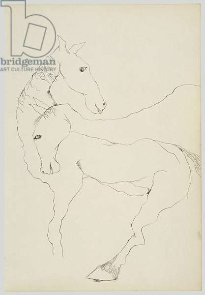 Pair of Horses, 1940 (ink on paper)