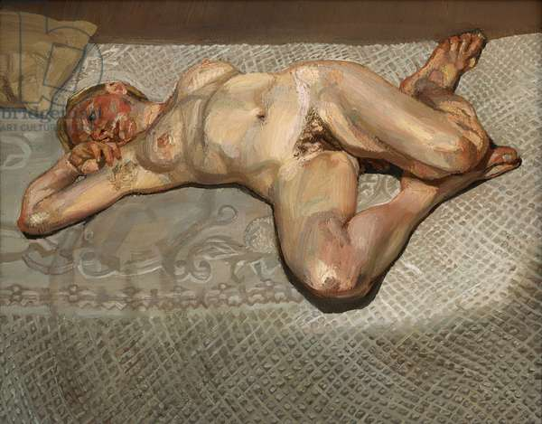 Blond Girl on a Bed, 1987 (oil on canvas)