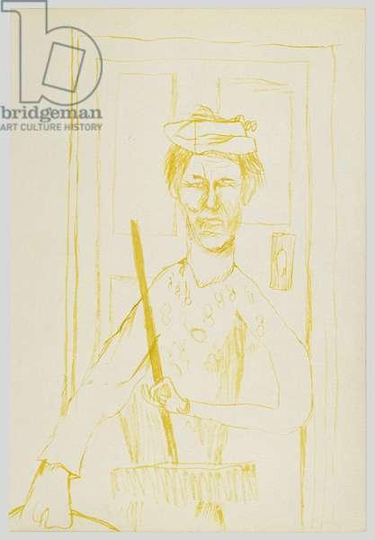 Landlady, 1940 (ink on paper)