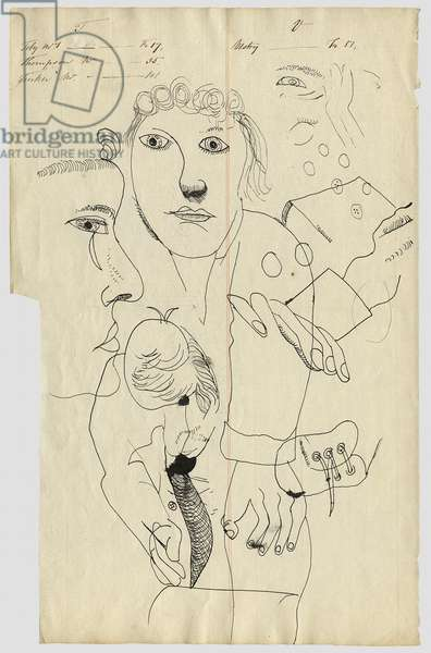 Untitled, c.1942 (pen & ink on paper) (recto of 4001680)