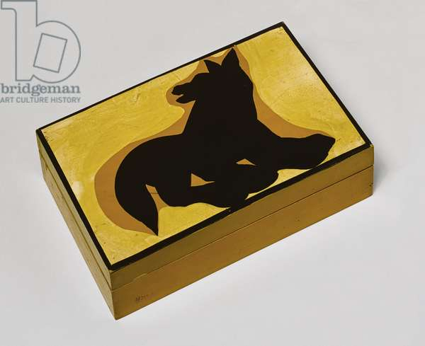 Wooden Box, made and painted by the artist, c.1937 (oil on wood)