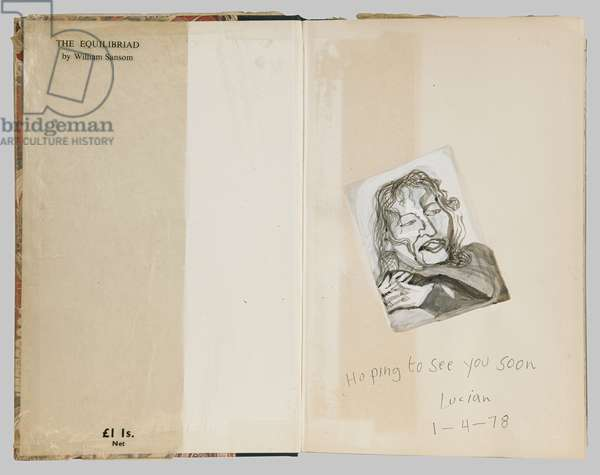 Head and Shoulders of a Woman, 1978 (pencil, w/c & gouache on book page)