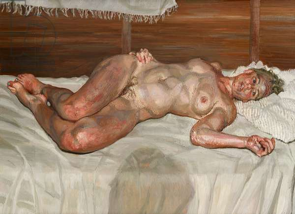 Flora with Blue Toe Nails, 2000-1 (oil on canvas)