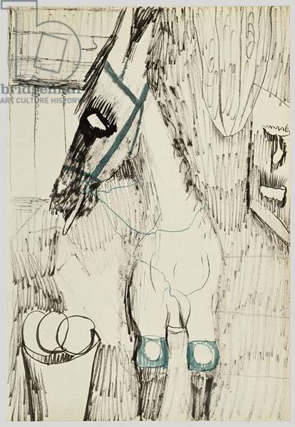 Polo Pony, 1940 (ink on paper)