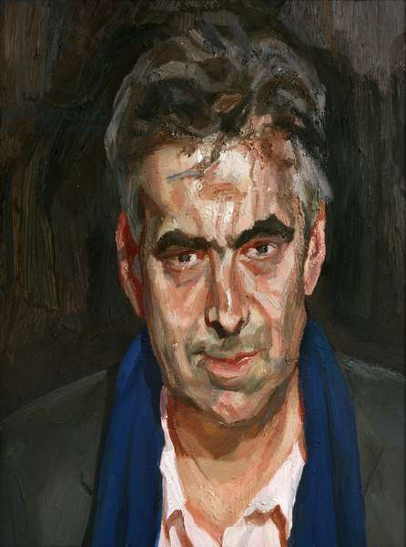 Man with a Blue Scarf, 2004 (oil on canvas)
