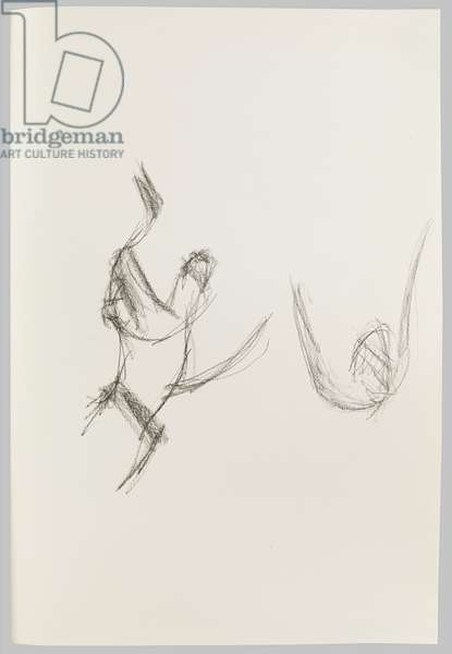 Drawing of Hand upon Breast, c.2000 (charcoal on paper)