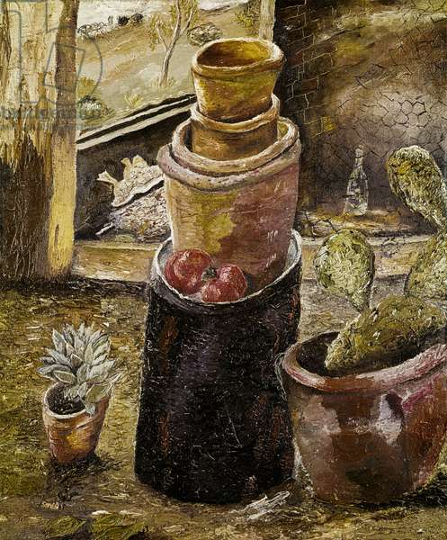 Still Life with Cactus and Flower Pots, 1939 (oil on canvas)