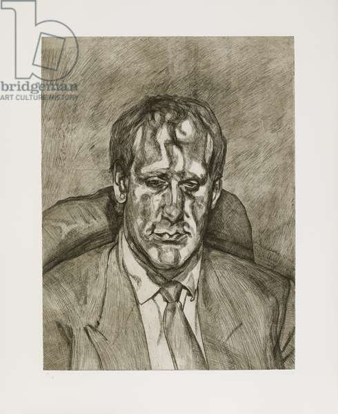 Head of an Irishman, 1999 (etching on paper)