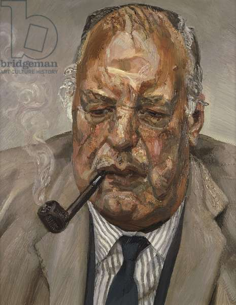 Man Smoking, 1986-87 (oil on canvas)