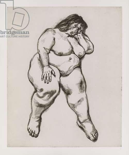 Woman Sleeping, 1995 (etching)