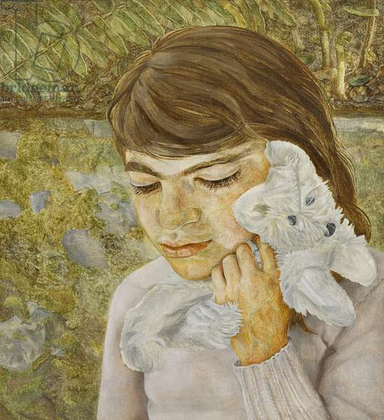 Child with a Toy Dog, 1956-58 (oil on canvas)