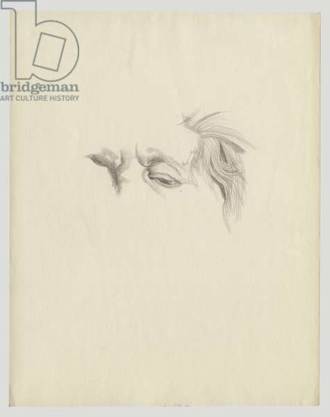 Self Portrait, c.1970 (pencil on paper)