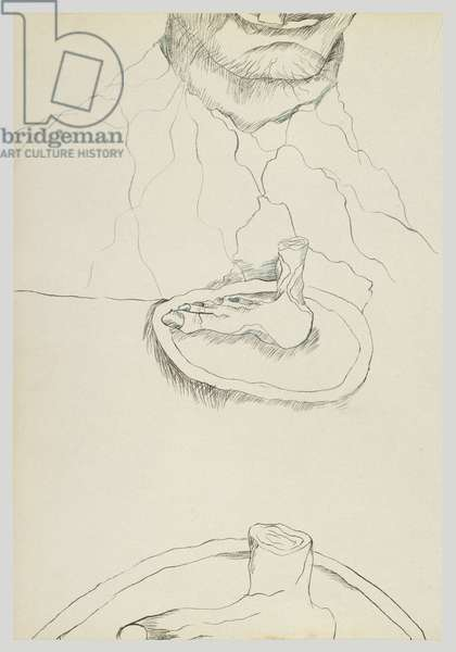 Foot Eater, 1940 (ink on paper)