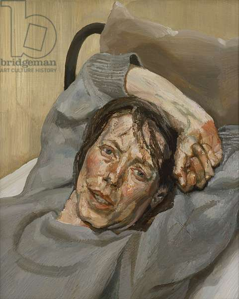 Woman in a Grey Sweater, 1988 (oil on canvas)