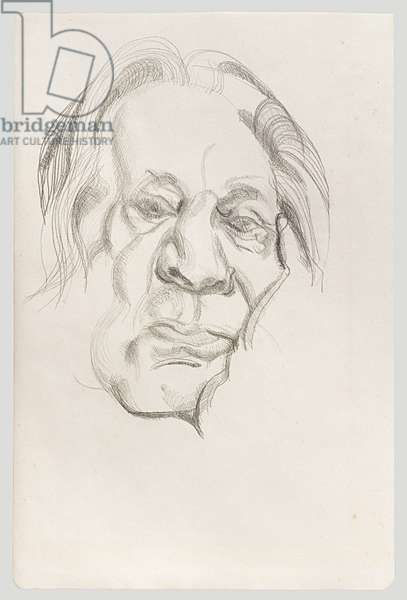 The Painter's Father, 1970 (pencil on paper)