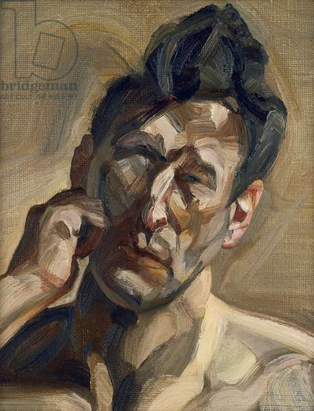 Man's Head, Small Portrait II (Self Portrait), 1963 (oil on canvas)
