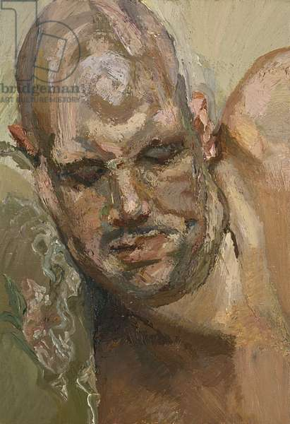 Small Head of Leigh Bowery, 1995 (oil on canvas)