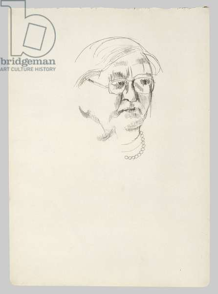 Head of Nanny, c.1959 (pencil on paper)