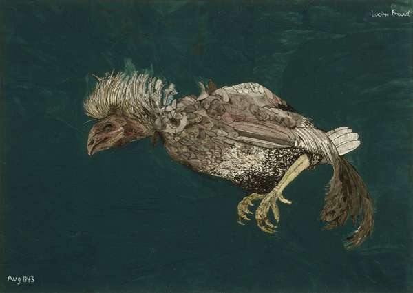 Dead Bird, 1943 (gouache on paper)
