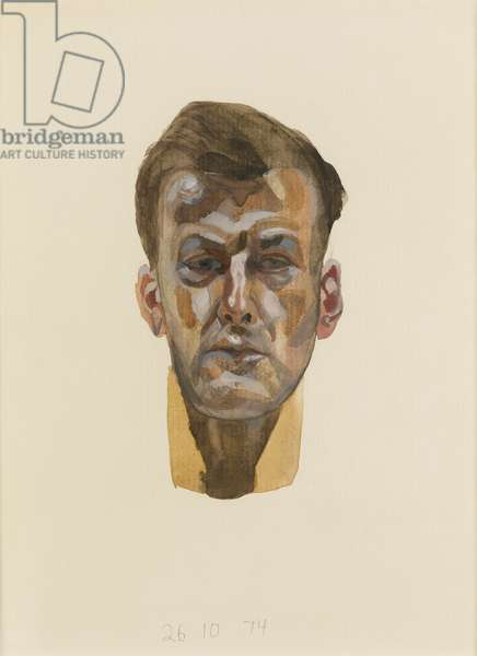 Self Portrait, 1974 (watercolor and pencil on paper)