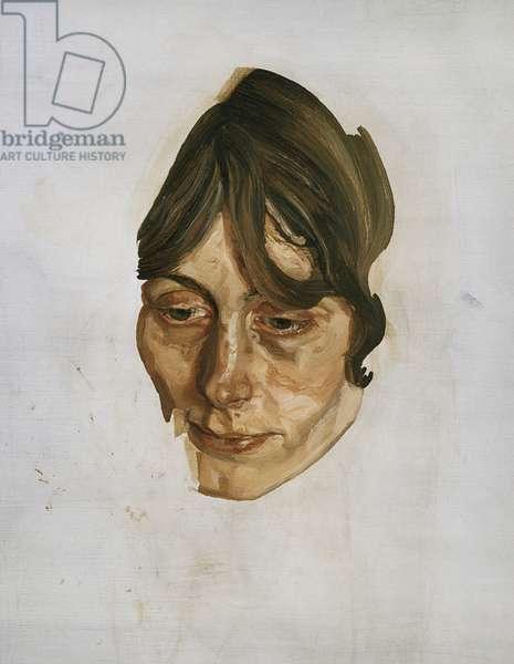 Girl's Head, c.1973-74 (oil on canvas)