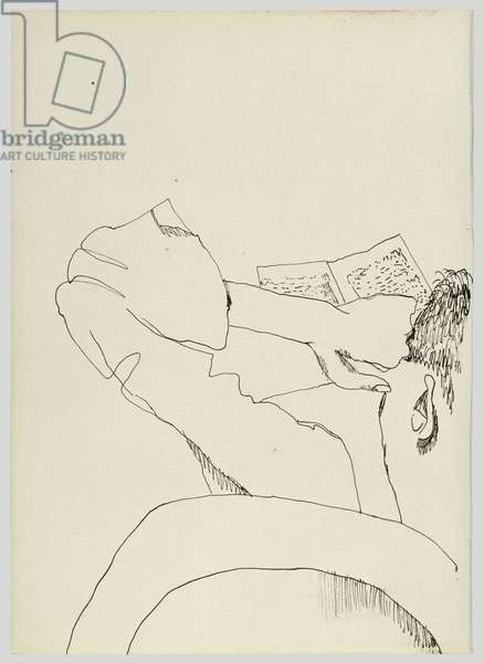 Man Reading, 1940 (ink on paper)