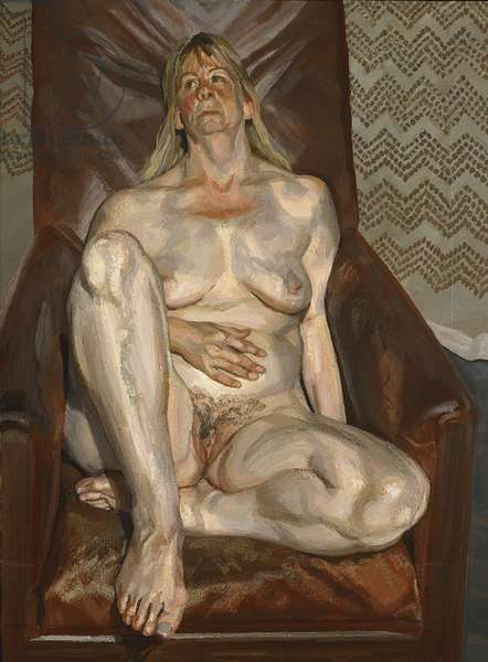 Naked Portrait in a Red Chair, 1999 (oil on canvas)