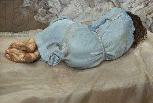 Annabel Sleeping, 1987-88 (oil on canvas)