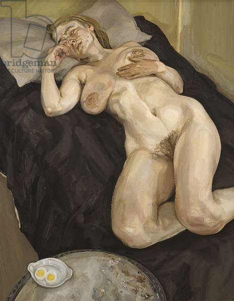Naked Girl with Egg, 1980-81 (oil on canvas)