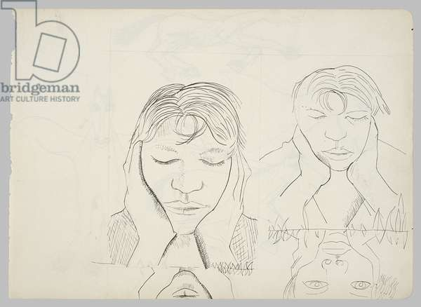 Study for 'Narcissus', 1949 (ink on paper)