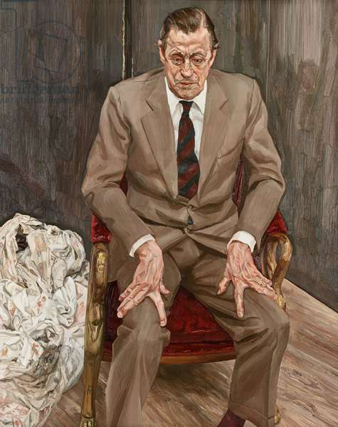 Man in a Chair, 1983-85 (oil on canvas)