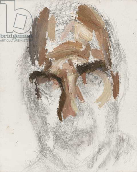 Unfinished Portrait of Harold Pinter, 2007 (oil on canvas)