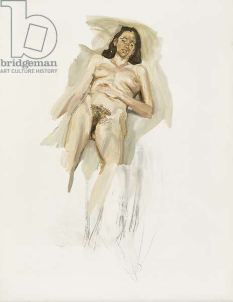 Naked Portrait, Fragment, 2001 (oil & charcoal on canvas)