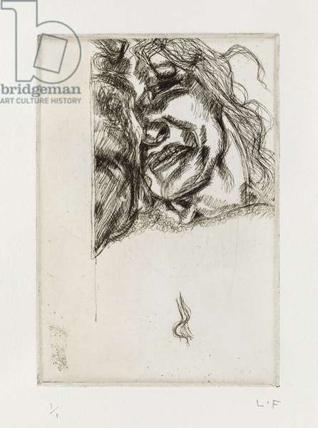 Head of a Woman, 1980 (etching)